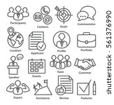 business management icons in... | Shutterstock .eps vector #561376990