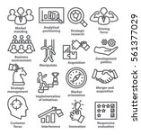 business management icons in... | Shutterstock .eps vector #561377029