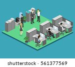 flat 3d isometric abstract... | Shutterstock .eps vector #561377569
