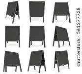 sandwich board set. black menu...   Shutterstock . vector #561377728