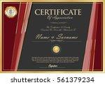 certificate retro design... | Shutterstock .eps vector #561379234