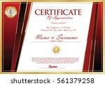 certificate retro design... | Shutterstock .eps vector #561379258