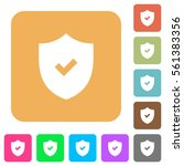 active security flat icons on... | Shutterstock .eps vector #561383356