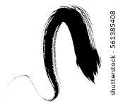 paint brush. curved brush... | Shutterstock .eps vector #561385408