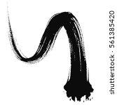 paint brush. curved brush... | Shutterstock .eps vector #561385420