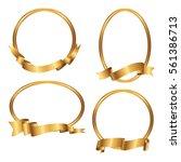 Set Of Golden Frames With...