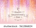valentine's day card template... | Shutterstock .eps vector #561386824