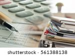 accounting business concept.... | Shutterstock . vector #561388138