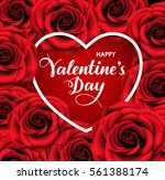 valentine's day background with ... | Shutterstock .eps vector #561388174