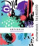 vector artistic poster  card... | Shutterstock .eps vector #561401050