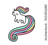 cute pony unicorn. adorable... | Shutterstock .eps vector #561401680