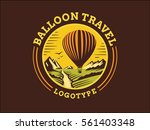 balloon travel logo   vector... | Shutterstock .eps vector #561403348