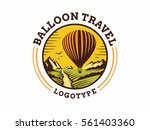balloon travel logo   vector... | Shutterstock .eps vector #561403360