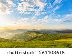 sunrise in the rolling rural... | Shutterstock . vector #561403618