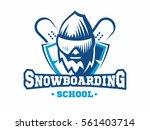 snowboarding school logo  ... | Shutterstock .eps vector #561403714