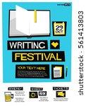 writing festival  flat style...   Shutterstock .eps vector #561413803