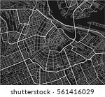 black and white vector city map ... | Shutterstock .eps vector #561416029
