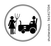 farm icon with tractor and...   Shutterstock .eps vector #561417334
