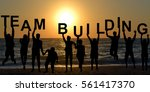 team building concept with... | Shutterstock . vector #561417370