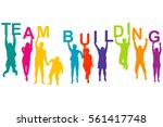 team building concept with... | Shutterstock .eps vector #561417748