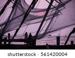 Chinese Fishing Nets On The...