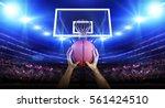 basketball player with ball | Shutterstock . vector #561424510