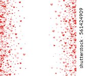 red hearts confetti. scattered... | Shutterstock .eps vector #561424909