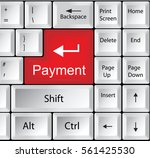 computer keyboard with payment  ... | Shutterstock .eps vector #561425530