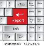computer keyboard with report   ... | Shutterstock .eps vector #561425578
