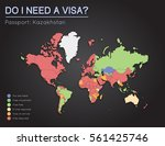 visas information for republic... | Shutterstock .eps vector #561425746