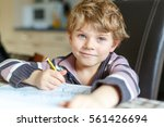 portrait of cute happy school... | Shutterstock . vector #561426694