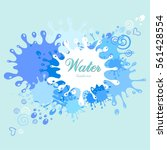 abstract blue background. water ... | Shutterstock .eps vector #561428554