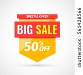 sale banner. vector... | Shutterstock .eps vector #561428566