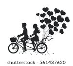 romantic couple man and woman... | Shutterstock .eps vector #561437620