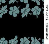 horizontal bright hawaiian... | Shutterstock .eps vector #561441658