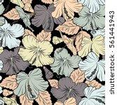 various hibiscus hawaiian... | Shutterstock .eps vector #561441943