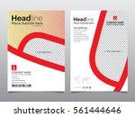 brochure  flyer  leaflet ... | Shutterstock .eps vector #561444646