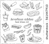 vector hand drawn set of... | Shutterstock .eps vector #561447910