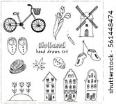 doodle hand drawn collection of ... | Shutterstock .eps vector #561448474
