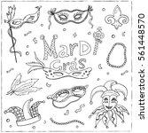 mardi gras traditional symbols... | Shutterstock .eps vector #561448570