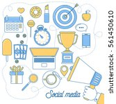 social media illustration.... | Shutterstock .eps vector #561450610