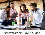 startup diversity teamwork... | Shutterstock . vector #561451366