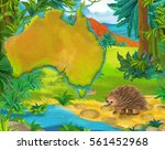 Cartoon Porcupine With...