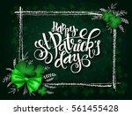 vector hand lettering saint... | Shutterstock .eps vector #561455428