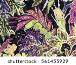 the beautiful of art fabric... | Shutterstock . vector #561455929