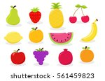 cartoon fruit set | Shutterstock .eps vector #561459823