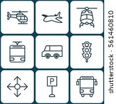 set of 9 shipping icons.... | Shutterstock .eps vector #561460810