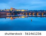 Prague At Night  Charles Bridge ...