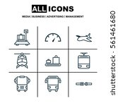 set of 9 shipping icons.... | Shutterstock .eps vector #561461680