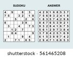 vector sudoku with answer 41.... | Shutterstock .eps vector #561465208
